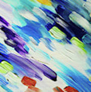 Colorful Rain Fragment 6. Abstract Painting Poster