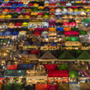 Colorful Street Market From Above Poster