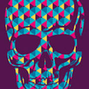 Conceptual Human Skull. Vector Poster