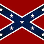 Confederate Stars And Bars T-shirt Poster