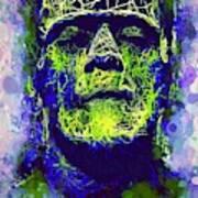 Frankenstein Watercolor Poster