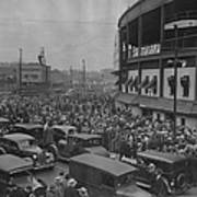 Crowd At Wrigley During World Series Poster