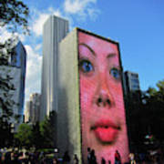 Crown Fountain Park Poster