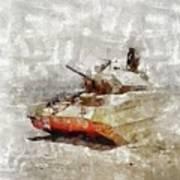 Crusader Tank, World War Two Poster