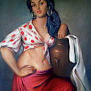 Cuban Girl Poster