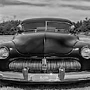 Customized 1950 Mercury In Bw Poster