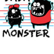 Dada Monster Cute Monster Cartoon For Kids And Dad Light Poster