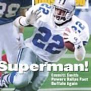 Dallas Cowboys Emmitt Smith, Super Bowl Xxviii Sports Illustrated Cover Poster