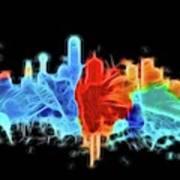 Dallas Neon Color Blast Poster