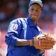 Darryl Strawberry  Throws The Ball Poster