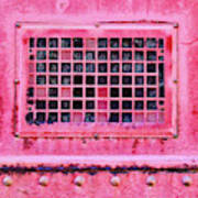 Deep Pink Train Engine Vent Square Format Poster