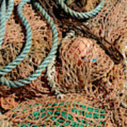 Deep Sea Fishing Nets And Buoys Poster