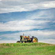 Deere On The Hill Poster