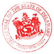 Delaware Seal Stamp Poster