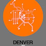 Denver Orange Subway Map Poster