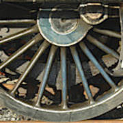 Detail Of Locomotive Wheel With Spokes Poster