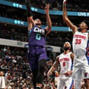 Detroit Pistons V Charlotte Hornets Poster
