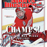 Detroit Red Wings Goalie Dominik Hasek, 2002 Nhl Stanley Sports Illustrated Cover Poster