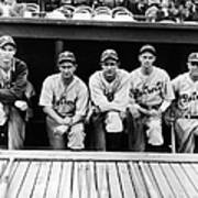 Detroit Tigers 1935 Pitching Staff And Poster