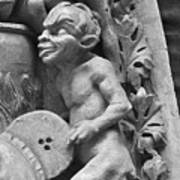 Devil Fanning The Fire, From The Last Judgement Of The Cathedral Of St Etienne In Bourges  Poster