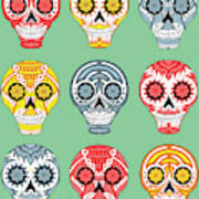 Dia De Muertos Skulls Poster