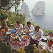 Dining Al Fresco On Capri Poster