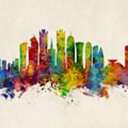 Doha Qatar Skyline Poster