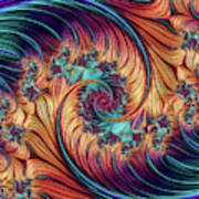 Double Fractal Spiral Poster