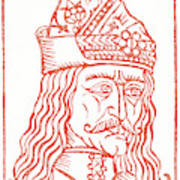 Dracula Or Vlad Tepes, 1491 Woodcut Poster