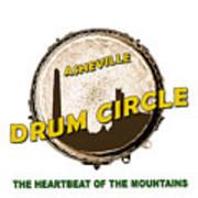 Drum Circle Logo Poster