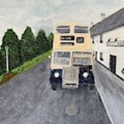 Dublin Bus Painting Poster
