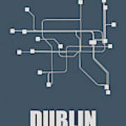 Dublin Subway Map Poster