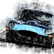 E-type Racing Poster