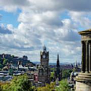 Edinburgh Castle From Calton Hill Poster