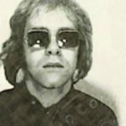 Elton John Passport Photo 1972 Poster