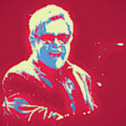 Elton John Pop Art Poster