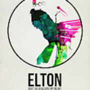 Elton Watercolor Poster Poster