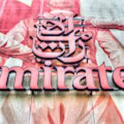 Emirates Logo Emirates Stadium  Poster
