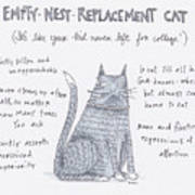 Empty Nest Replacement Cat Poster