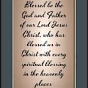 Ephesians 1 3 Poster