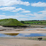 estuary on river Aln at Alnmouth Poster