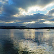 Evening On Windermere In Lake District National Park Poster