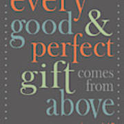 Every Good And Perfect Gift Poster