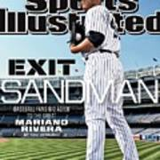 Exit Sandman Baseball Fans Bid Adieu To The Great Mariano Sports Illustrated Cover Poster