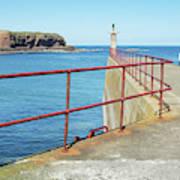 Eyemouth Harbour Pier Entrance Poster