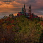 Fall Clouds Over Holy Hill Poster