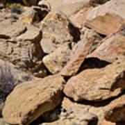 Fallen Sandstone Boulders Poster