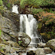 Falls At Inversnaid In Autumn Poster