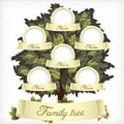 Family Tree.vector Illustration Poster