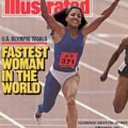 Fastest Woman In The World Florence Griffith-joyner Smashes Sports Illustrated Cover Poster